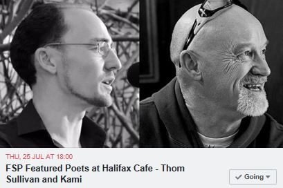 Halifax Cafe poetry reading - Kami and Thom Sullivan
