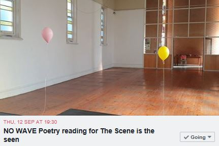 No Wave Poetry Reading